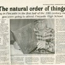 "Image of Newspaper article titled ""The Natural Order of Things"" - 2009.1.62"