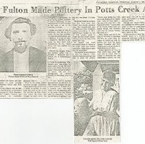 Image of Geroge Fulton Made Pottery in Potts Creek Area - 2009.1.76