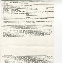 Image of Historic Landmarks Commission Survey Form of the Fulton Pottery Kiln - 2009.1.80