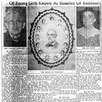 "Image of Newspaper article titled 'Of Young Girls Known as Beauties of Botetourt"" - 2009.1.304"