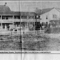 """Image of Newspaper article titled """"Sarah Parker Will Recall Her Childhood Days in Fincastle"""" - 2009.1.306"""