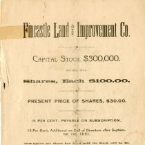 Image of Fincastle Land and Improvement Company - 2009.1.380