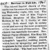 """Image of Newspaper article titled """"Marriage in High Life"""" - 2009.1.445"""