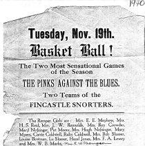 """Image of """"Tuesday Nov. 19th Basket Ball"""" - 2009.1.489"""
