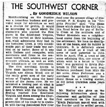"Image of Newspaper article titled ""The Southwest Corner"" - 2009.1.499"