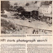 "Image of Newspaper article titled ""HFI Starts Photo Search"" - 2009.1.562"