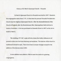 "Image of ""History of St. Mark's Episcopal Church"" - 2009.1.34"