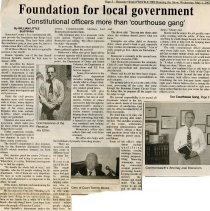 "Image of Newspaper article titled ""Foundation for Local Government"" - 2009.1.551"