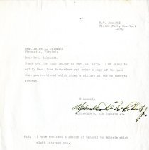 Image of Letter to Helen E. Caldwell from Alexander H. MacRoberts, Jr. - 2009.1.557