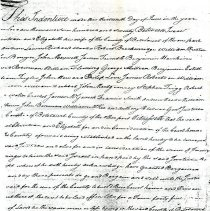 Image of Indenture Forming the Town of Fincastle With Provisions for a Courthouse and Prison. - 2009.1.607