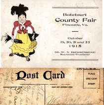 Image of Postcard of the Botetourt County Fair - 2009.1.618