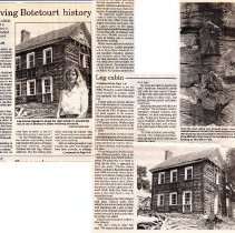 """Image of Newspaper article titled """"Preserving Botetourt History"""" - 2009.1.686"""