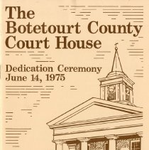 "Image of ""The Botetourt County Court House Dedication Ceremony"" - 2009.1.717"