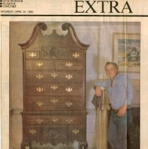 """Image of Newspaper article titled """"Funny Furniture"""" - 2009.1.561"""
