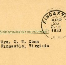 Image of Correspondance to Mrs. O. W. Coon and Her Daughters - 2009.1.563