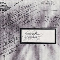 Image of Letter to Mr Falter