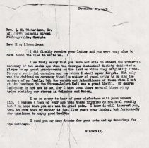 Image of Letter to Mary Richardson Sr. from Jack I. Straus