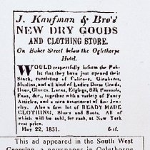 Image of Slide: Newspaper ad