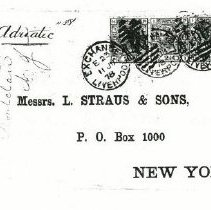 Image of L. Straus and Sons Envelope.