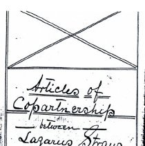 Image of Articls of Copartnership 7 legal handwritten pages