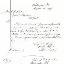 Image of Letter: H.J. French to A.P. Ketchum (1876) 3 pages