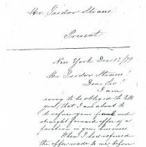 Image of Letter: Edelen to I. Straus (2 pages)