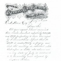 Image of Letter: D.F. Ames to O.S. Straus (1880)
