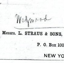 Image of Envelope: L. Straus and Sons