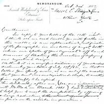 Image of Letter-Wedgewood to L. Straus and Sons (1882) 2 pages