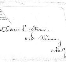Image of Envelope to Oscar Straus