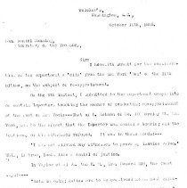 Image of Letter to Daniel Manning, Oct. 1885 (6 pages)