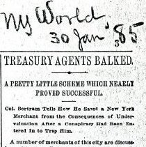 """Image of """"Treasury Agents Balked."""" (Frist 4 pages)"""