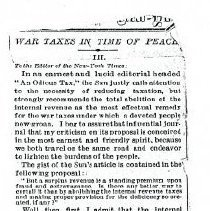 "Image of ""War Taxes in Time of Peace."" (First 4 pages)"