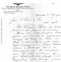 Image of Letter:Wilhelm to L. Straus and Sons (1885)