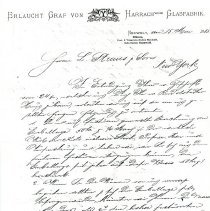 Image of Erlaucht to L. Straus and Sons Letter (1885) 2 pages