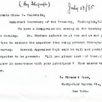 Image of Letter-L. Straus and Sons to Fairchild