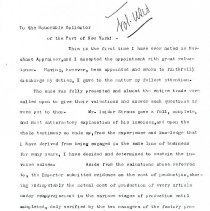 Image of Letter to honorable collector of the Port of New York (3 pages)