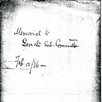 Image of Memo: P.H. Leonard Reappraisment (1885) 4 pages