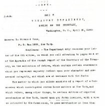 Image of Fairchild to L. Straus and Sons Letter (1886) 2 pages