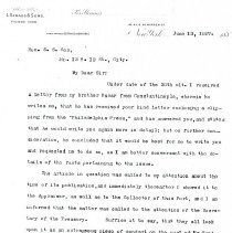Image of Letter: I. Straus to S.S. Cox (4 pages)