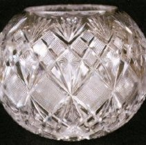 Image of L. Straus & Sons Cut Glass Bowl in Venetian Pattern - L.S&S064.002