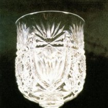 Image of L. Straus & Sons Stemmed Cut Glass Goblet in Majestic Pattern - L.S&S064.003