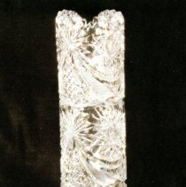 Image of L. Straus & Sons Cut Glass Vase in Richmond Pattern - L.S&S064.004