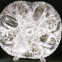 Image of L. Straus & Sons Cut Glass Bowl in Khedive Pattern - L.S&S064.010