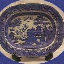 Image of L. Straus & Sons English Flow Blue Platter - L.S&S064.013
