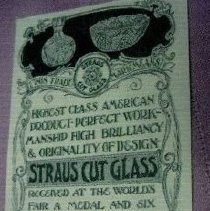 Image of Advertisement for L. Straus & Sons Cut Glass - L.S&S064.014