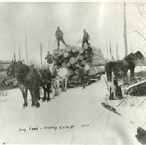 Image of Log Load - Log load scaling 11,420 feet, 1903