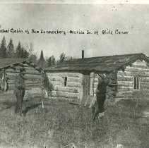 Image of Joe Sonnenberg's homestead cabin - Joe Sonnenberg's homestead cabin, one mile south of Alida corner, 1897.