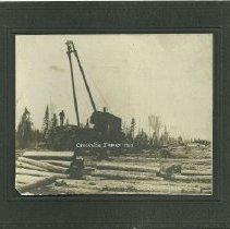 Image of Crookston Lumber Company Logging Jammer - Crookston Lumber Company Logging Jammer, 1900
