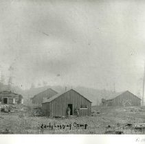 Image of Early Logging Camp - Logging camp, 1904. Jerome M. Skeim